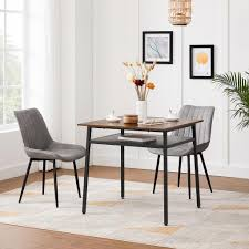 vasagle esstisch quadratischer küchentisch schreibtisch mit ablage für wohnzimmer büro industrie design vintagebraun schwarz kdt008b01