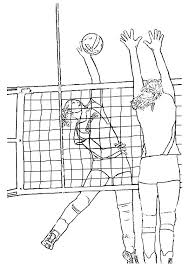 Olympics Volleyball With Girls Player Coloring Pages