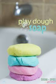 Finger Paint Bath Soap how to make homemade play dough soap a fun idea for bath time