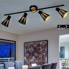 design decken le balken leuchte esszimmer strahler gold spot verstellbar trio leuchten 800300432
