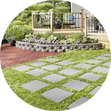 how to lay a garden patio shop pavers retaining walls at lowes