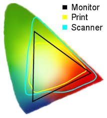 The Picture Shows Examples Of Color Gamuts Colored Horseshoe Shape All Colors Human Eye Can See Black Triangle A Typical Gamut