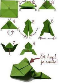 Origami Frog Fun And Easy For Playing With Children