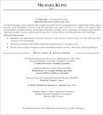 Personal Statement For A Resume Profile Examples Resumes Of