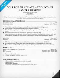 Cv Template Accounting Graduate College Accountant Resume Sample Of