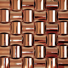 Brown Mosaic Bathroom Mirror by Brown Chrome Stainless Steel Backsplash Arched Mosaic Metal