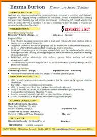 Great Resume Examples 2014elementary School Teacher 2017 5a7e584fbceec