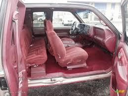 Red Interior 1997 Chevrolet C K K1500 Silverado Extended Cab 4x4