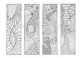 DIY Zentangle Inspired Bookmarks Zendoodle Printable Coloring Digital Download Sheet 4 400