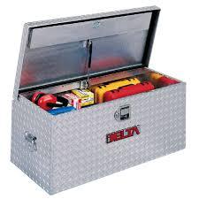 Delta Truck Box Long Portable Tool Chest Plastic Spin Prod Poly ...