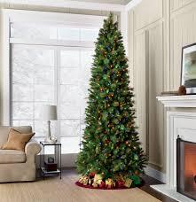 75 Slim Flocked Christmas Tree by 75 Slim Pre Lit Christmas Tree Christmas Decor Inspirations