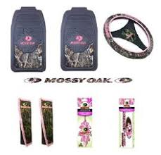 pink mossy oak brand 15 piece auto accessory set floor mats seat