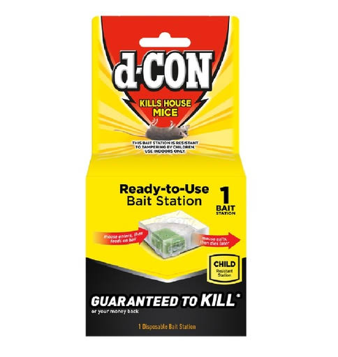 d-CON Mouse Bait Station Disposable 12 Pack