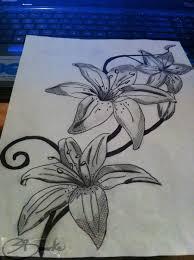 Amazing Tattoo Designs On Paper Best Lily Flower Design