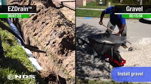 Perforated Drain Tile Sizes by Gravel French Drain Versus Ez Drain Comparison Youtube