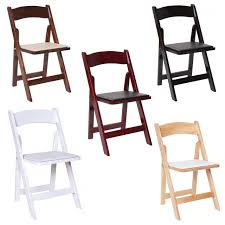 Premier Series Wedding And Event Wood Folding Chair With Vinyl Seat Pad,  Free Storage Bag