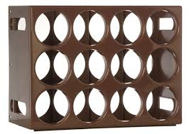 Twelve bottle modular ABS polymer Le Cellier wine rack Brown