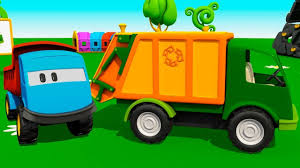 Leo The Truck & A Garbage Truck. Cartoons For Kids. - YouTube Garbage Truck Videos For Children Toy Bruder And Tonka Diggers Truck Excavator Trash Pack Sewer Playset Vs Angry Birds Minions Play Doh Factory For Kids Youtube Unboxing Garbage Toys Kids Children Number Counting Trucks Count 1 To 10 Simulator 2011 Gameplay Hd Youtube Video Binkie Tv Learn Colors With Funny