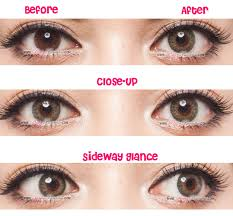 Halloween Contacts No Prescription Needed by Geo Tri Color Green Circle Lenses Colored Contacts Pinkyparadise