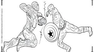 America Coloring Pages Vs Captain Download Printable Image Civil War Black Panther