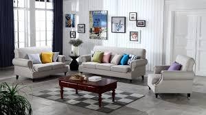 salon canapé gris contemporain moderne linge de stockage tissu canapé gris salon