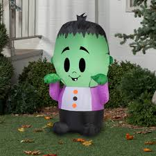 Walmart Halloween Blow Up Decorations by Gemmy Airblown Inflatable 3 5 U0027 X 2 U0027 Happy Monster Halloween