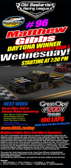 OBRL S1-18 Trucks Series Daytona Winner (Matthew Gibbs) Poster - Old ... Camping World Extends Sponsorship For Nascar Truck Series Coke Zero 400 At Daytona Preview 500 Entry List Entire Spdweeks Schedule Promatic Automation To Endorse Justin Fontaine In Truck Series Wacky Sports Photos Of The Week Through Feb 24 Photos Elliott Sadler Came 2nd Closest Finish Ever Racing News The 10 Power Rankings After And Pro All Stars Spud Speedway Race Reactions Up 26trucksr01daytona5 Iracingcom Motsport Xfinity Stponed By Rain Spokesman 2018 Schedule Mpo Group 2015 Atlanta Motor