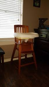 100 Wooden High Chair With Removable Tray Best Eddie Bauer For Sale In Brazoria County