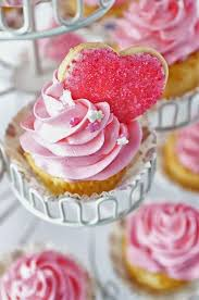 Pink Wedding Ideas Heart Cupcakes