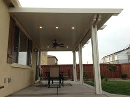 Alumawood Patio Covers Phoenix by Alumawood Patio Cover With Fan And Two Lightstrips Canned Lights