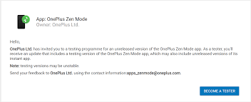 100 Zen Mode OnePlus Seeking Beta Testers For The App 9to5Google