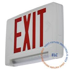 emergency lights led only exit light co