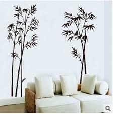 amazon com bamboo mural removable craft art black wall sticker