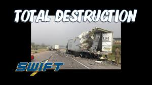 Trucking: Swift Truck Destroys A KLLM Trailer On The Shoulder In ... Knight And Swift Transportation To Merge Business Insider My First Paycheck At As Dicated Reefer Driver Pay Scale For Schneider Page 1 Ckingtruth Forum Old Dominion Trucking Best Image Truck Kusaboshicom Driving Schools Cdl Traing Walmart Truckers Land 55 Million Settlement For Nondriving Time Pay Driver Salary Diamond Salaries Fedex Drivers