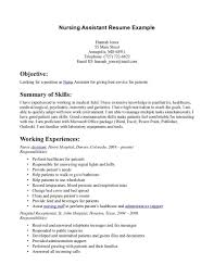 Professional CNA Resume Samples