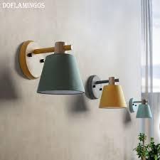 moderne led wandleuchte metall holz wand leuchten hause