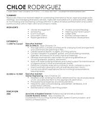 Resume Objectives For Administrative Assistants Examples E Templates Assistant Free Sample Executive Summary Example Template Job