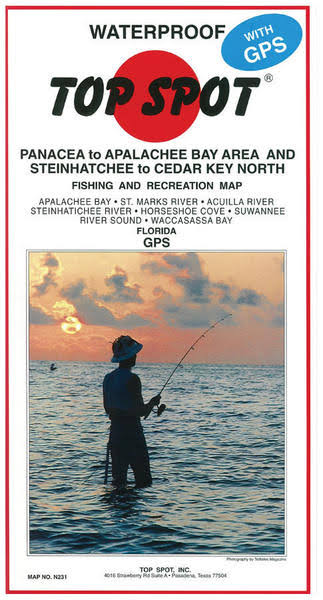 Top Spot Map- Panacea Apalachee Steinhatchee to Cedar Key North, N231