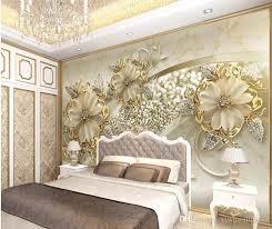großhandel goldene 3d stereo europäischen muster tv hintergrund wand moderne tapete für wohnzimmer yiwuwallpaper 10 72 auf