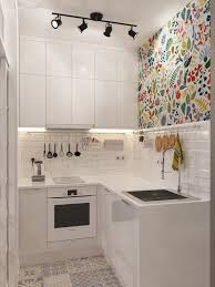 100 Kitchen Design With Small Space Injecting Color Into A Tiny White Dapur Idea Pinterest