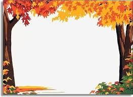 fall tree border clipart 10