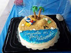Beach Theme Retirement Cakes