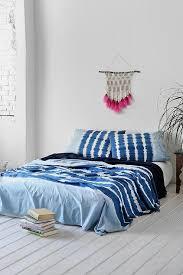indigo stripe bed blanket