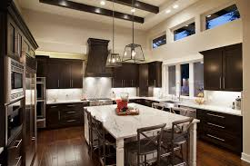 Contemporary Kitchens With Dark Cabinets Kitchen Great Granite Smooth Killer Appliances