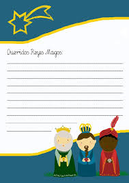 De Un Modelo De Carta Real Carta Ninos Reyes