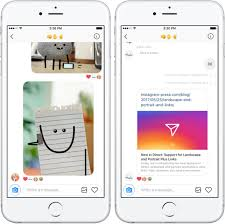 Instagram Direct now lets you send links and images in landscape