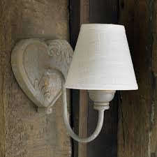 rustic wooden wall light with linen shade co uk