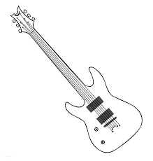 Clever Ideas Guitar Coloring Page Long Neck Electric Pages