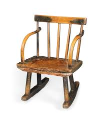 AN EARLY VICTORIAN CHILD'S ASH ROCKING CHAIR | EARLY 19TH ...