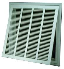 Decorative Return Air Grille 20 X 20 by Ameriflow Return Air Filter Grille White At Menards